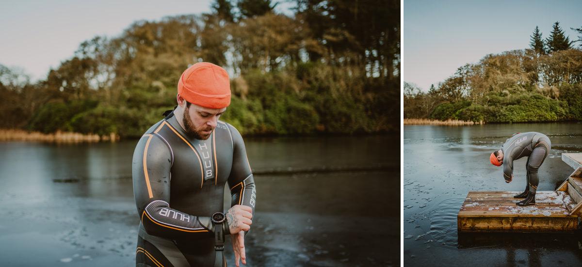 cold swimming at dunskey